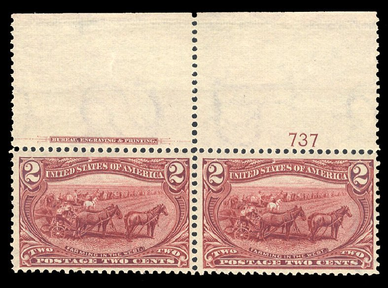 Costs of US Stamps Scott # 286 - 2c 1898 Trans Mississippi Exposition. Cherrystone Auctions, Sep 2014, Sale 201409, Lot 45