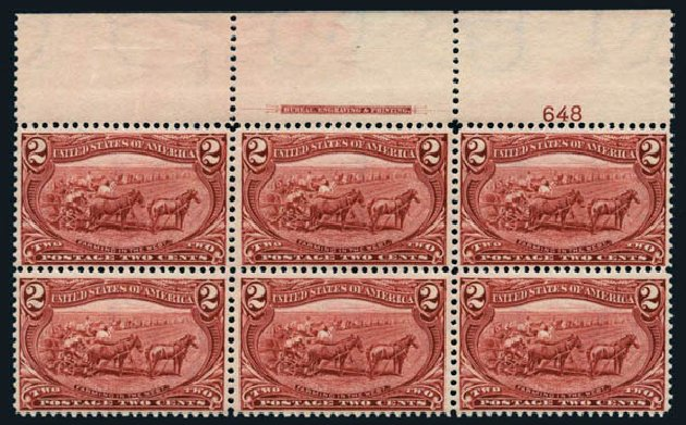 Values of US Stamps Scott 286: 2c 1898 Trans Mississippi Exposition. Harmer-Schau Auction Galleries, Aug 2014, Sale 102, Lot 1925