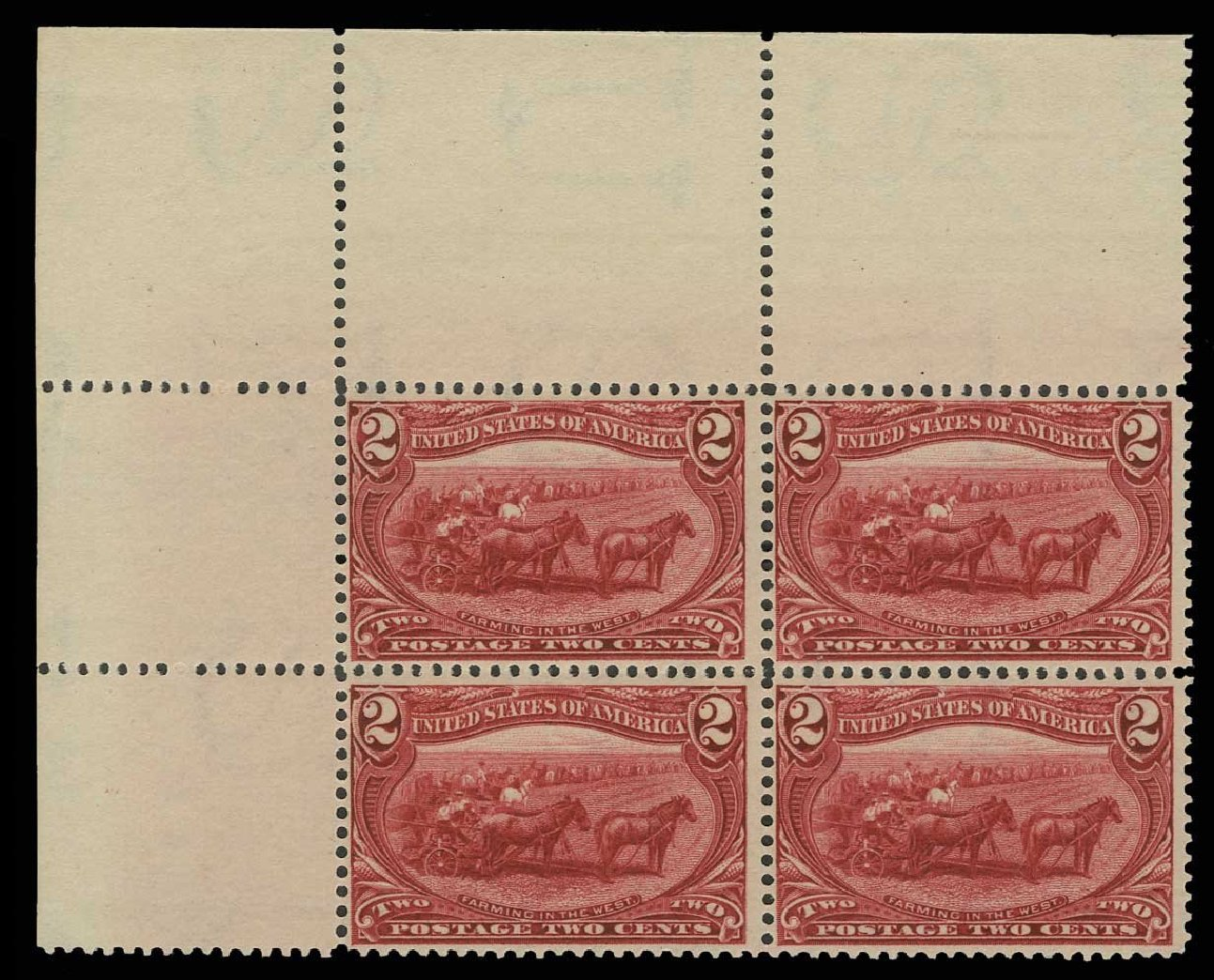 Cost of US Stamp Scott Cat. # 286: 1898 2c Trans Mississippi Exposition. H.R. Harmer, May 2014, Sale 3005, Lot 1215