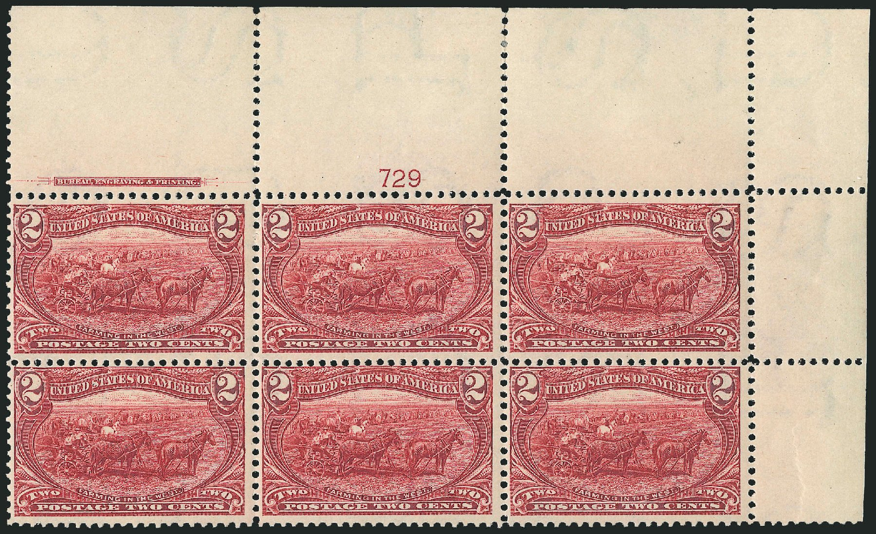 Values of US Stamp Scott Catalog # 286: 1898 2c Trans Mississippi Exposition. Robert Siegel Auction Galleries, Jun 2015, Sale 1100, Lot 62
