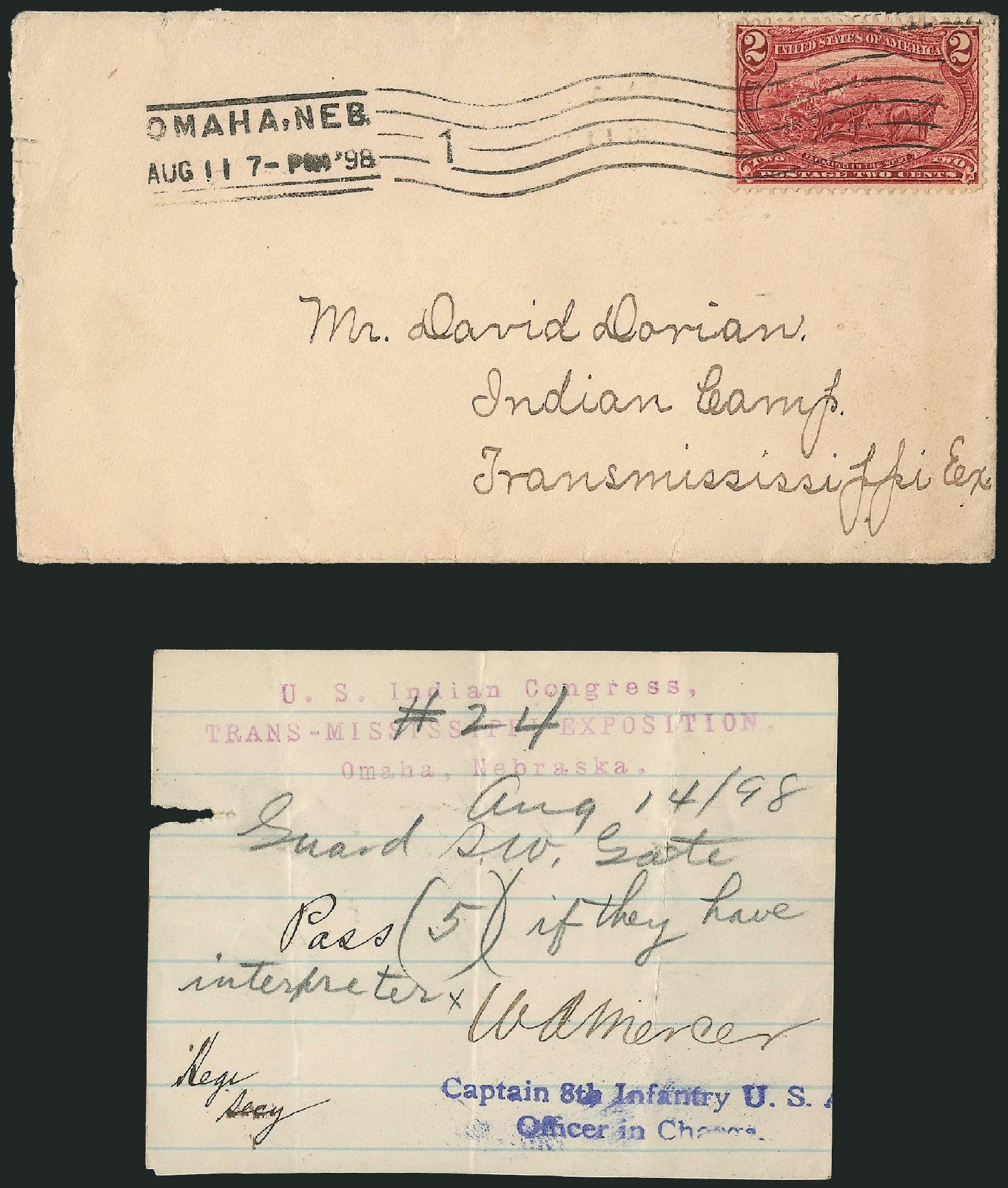 US Stamp Values Scott Catalog 286 - 2c 1898 Trans Mississippi Exposition. Robert Siegel Auction Galleries, Nov 2013, Sale 1056, Lot 373