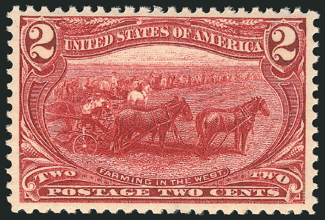 Value of US Stamps Scott Cat. #286: 2c 1898 Trans Mississippi Exposition. Robert Siegel Auction Galleries, Dec 2014, Sale 1090, Lot 1413