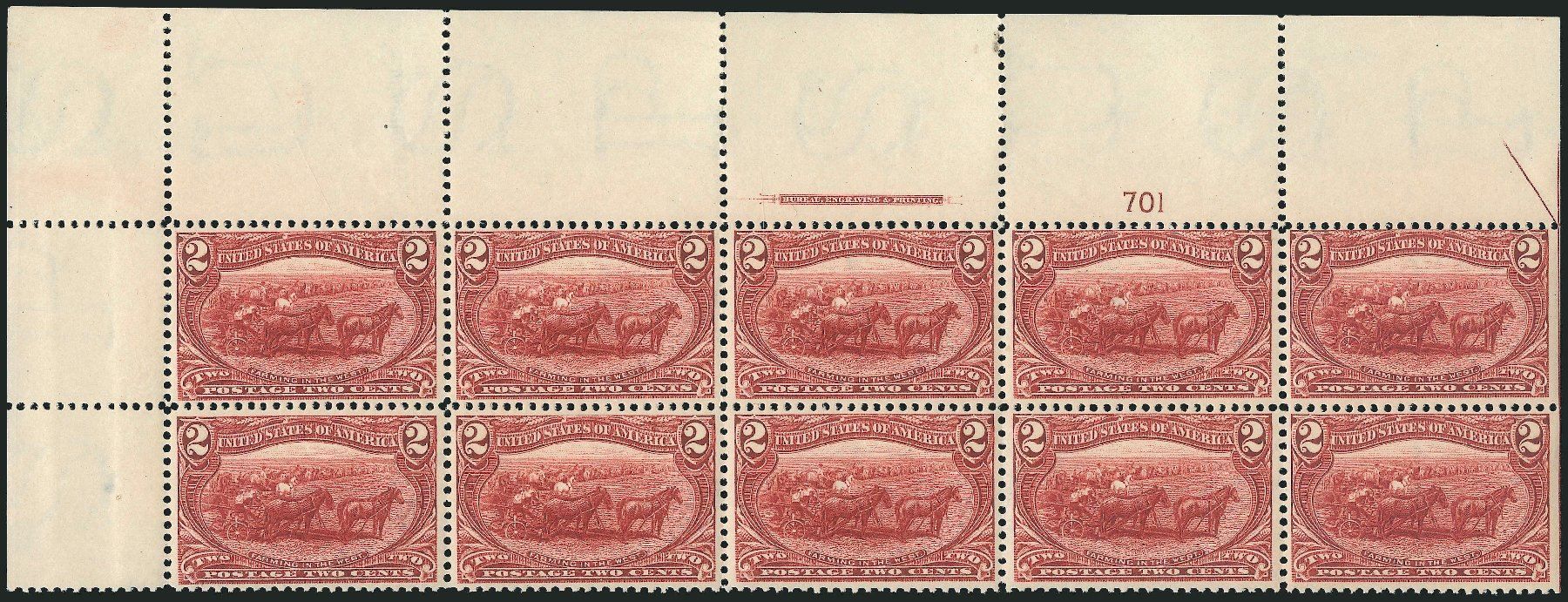 Cost of US Stamp Scott Catalog #286 - 2c 1898 Trans Mississippi Exposition. Robert Siegel Auction Galleries, Apr 2015, Sale 1096, Lot 503