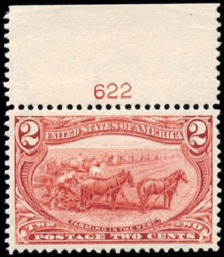 US Stamps Values Scott Catalogue #286 - 2c 1898 Trans Mississippi Exposition. Schuyler J. Rumsey Philatelic Auctions, Apr 2015, Sale 60, Lot 2766
