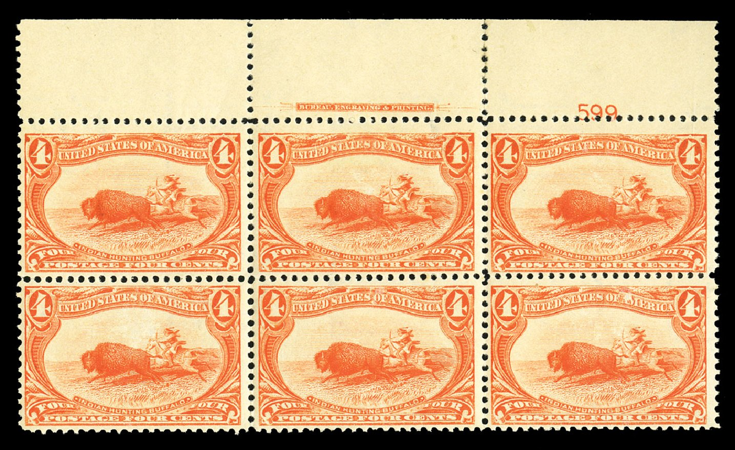 Costs of US Stamps Scott Cat. # 287 - 1898 4c Trans Mississippi Exposition. Cherrystone Auctions, Jul 2015, Sale 201507, Lot 2097