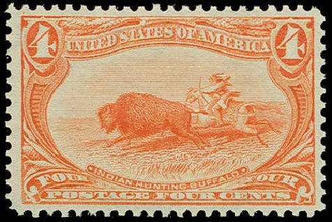 Values of US Stamps Scott Catalog #287: 1898 4c Trans Mississippi Exposition. H.R. Harmer, Jun 2015, Sale 3007, Lot 3277