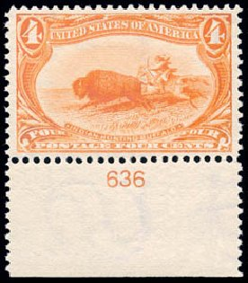 US Stamps Prices Scott Cat. # 287 - 1898 4c Trans Mississippi Exposition. Schuyler J. Rumsey Philatelic Auctions, Apr 2015, Sale 60, Lot 2767
