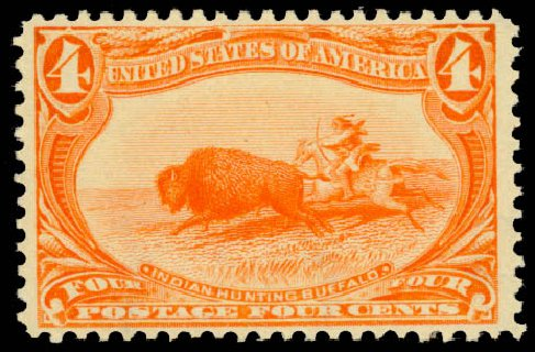 Cost of US Stamp Scott Catalogue 287: 4c 1898 Trans Mississippi Exposition. Daniel Kelleher Auctions, Aug 2015, Sale 672, Lot 2568