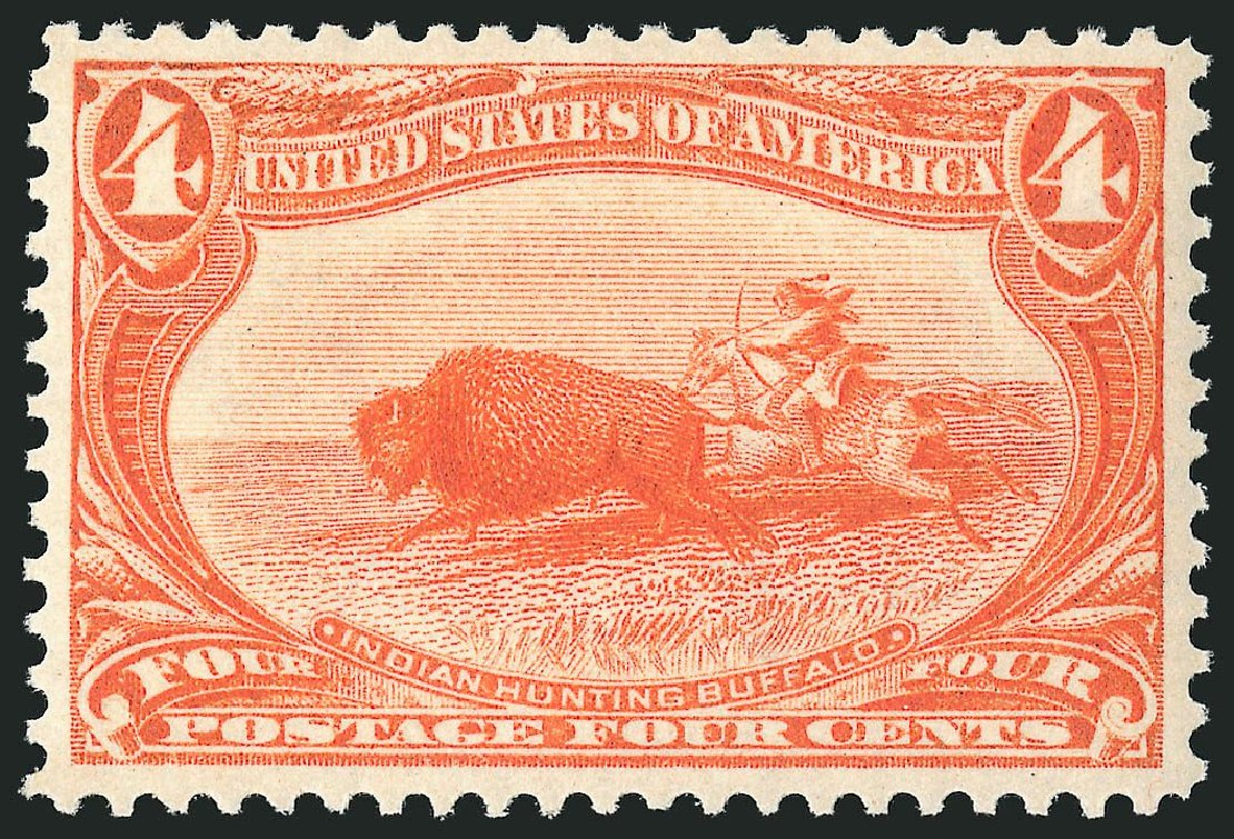 US Stamp Values Scott Cat. #287: 1898 4c Trans Mississippi Exposition. Robert Siegel Auction Galleries, Dec 2014, Sale 1090, Lot 1414