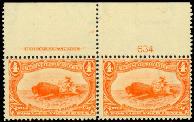 US Stamps Prices Scott Cat. 287 - 4c 1898 Trans Mississippi Exposition. Daniel Kelleher Auctions, Jan 2015, Sale 663, Lot 1562