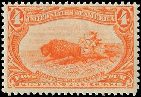 US Stamps Values Scott Catalogue # 287: 4c 1898 Trans Mississippi Exposition. Regency-Superior, Jan 2015, Sale 109, Lot 1033