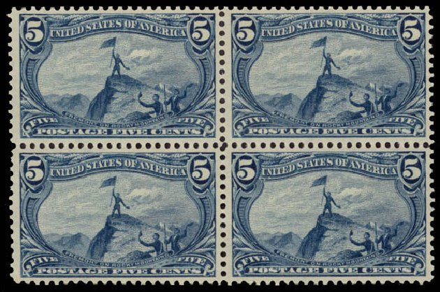 US Stamps Value Scott Catalogue #288: 1898 5c Trans Mississippi Exposition. Daniel Kelleher Auctions, May 2015, Sale 669, Lot 2817