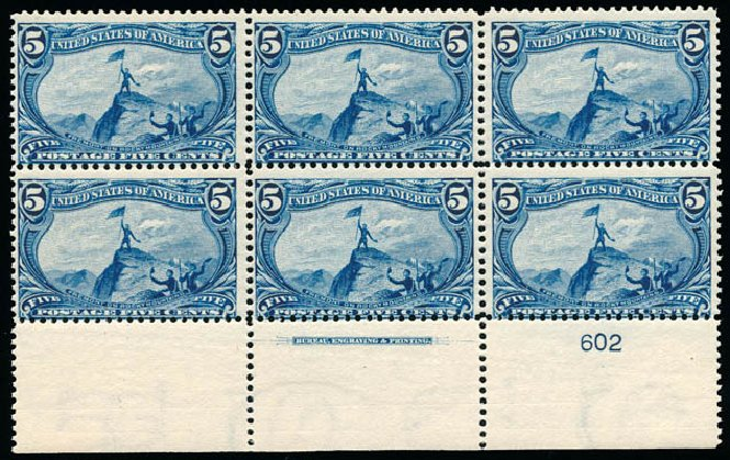 Values of US Stamps Scott Cat. #288: 1898 5c Trans Mississippi Exposition. Schuyler J. Rumsey Philatelic Auctions, Apr 2015, Sale 60, Lot 2887