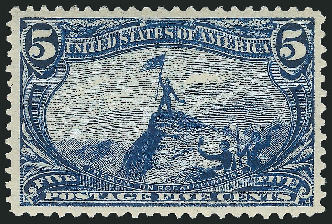 US Stamps Value Scott Cat. #288: 1898 5c Trans Mississippi Exposition. Robert Siegel Auction Galleries, Feb 2015, Sale 1092, Lot 1237