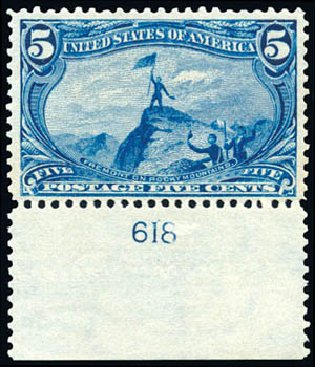 US Stamps Price Scott Catalog #288: 5c 1898 Trans Mississippi Exposition. Schuyler J. Rumsey Philatelic Auctions, Apr 2015, Sale 60, Lot 2768