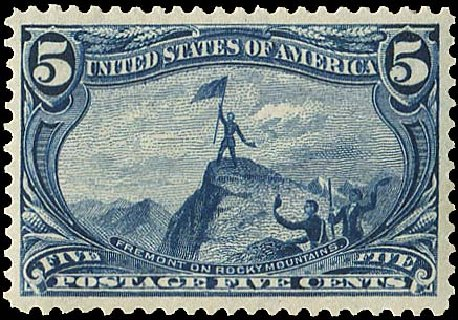 US Stamps Prices Scott Cat. #288 - 1898 5c Trans Mississippi Exposition. Regency-Superior, Aug 2015, Sale 112, Lot 604