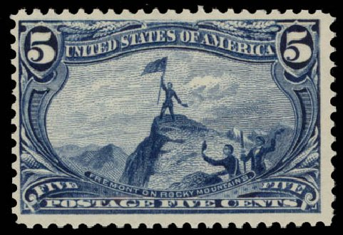 US Stamp Prices Scott 288: 1898 5c Trans Mississippi Exposition. Daniel Kelleher Auctions, May 2015, Sale 669, Lot 2815