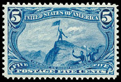US Stamps Prices Scott Cat. 288: 1898 5c Trans Mississippi Exposition. Schuyler J. Rumsey Philatelic Auctions, Apr 2015, Sale 60, Lot 2286