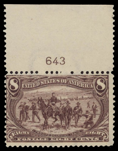 US Stamp Values Scott Cat. #289 - 1898 8c Trans Mississippi Exposition. Daniel Kelleher Auctions, May 2015, Sale 669, Lot 2818