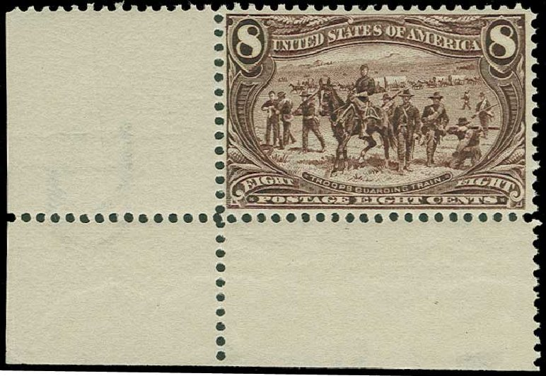 US Stamps Value Scott Catalogue 289: 8c 1898 Trans Mississippi Exposition. H.R. Harmer, Jun 2015, Sale 3007, Lot 3279