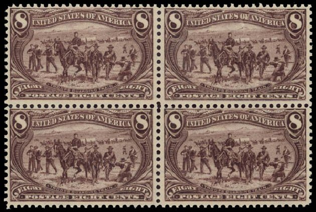 Values of US Stamp Scott #289: 1898 8c Trans Mississippi Exposition. Daniel Kelleher Auctions, May 2015, Sale 669, Lot 2819