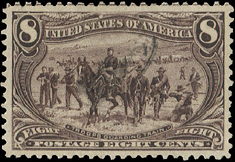 US Stamps Value Scott Catalog #289: 1898 8c Trans Mississippi Exposition. Regency-Superior, Aug 2015, Sale 112, Lot 605