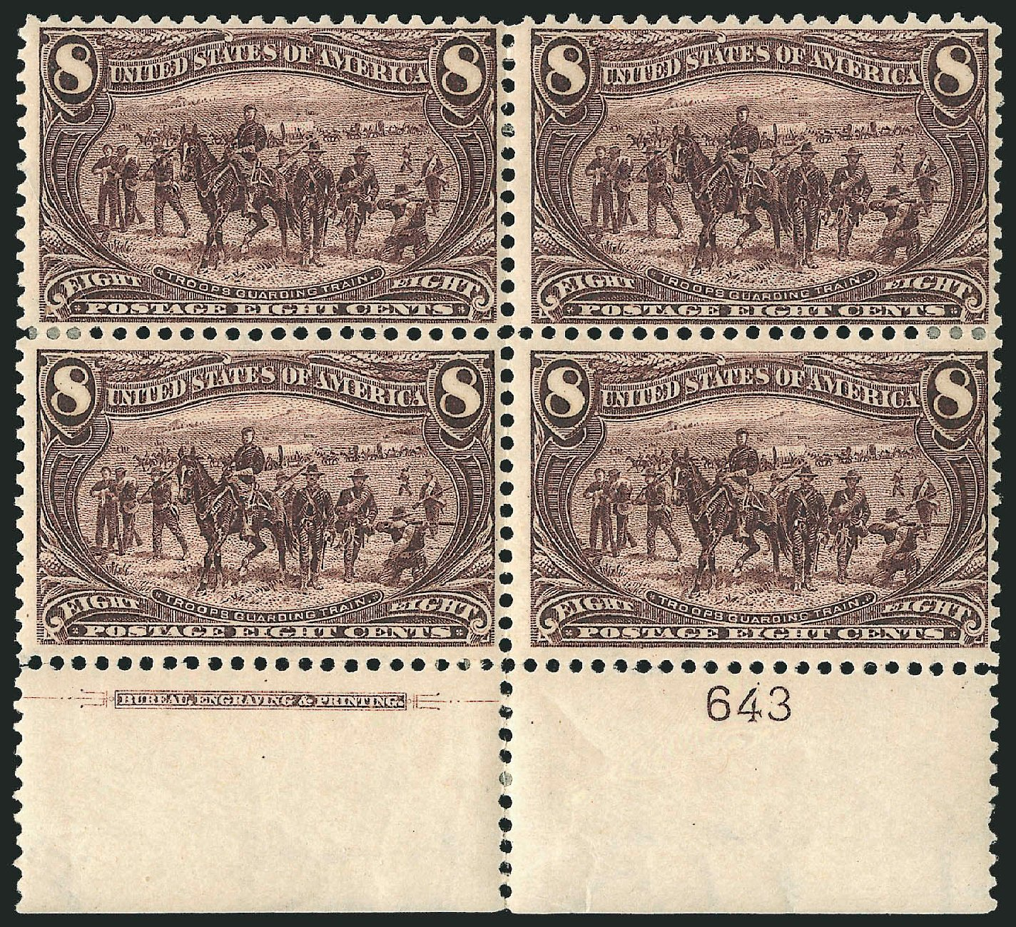 US Stamps Price Scott Catalogue # 289: 8c 1898 Trans Mississippi Exposition. Robert Siegel Auction Galleries, Apr 2015, Sale 1096, Lot 505