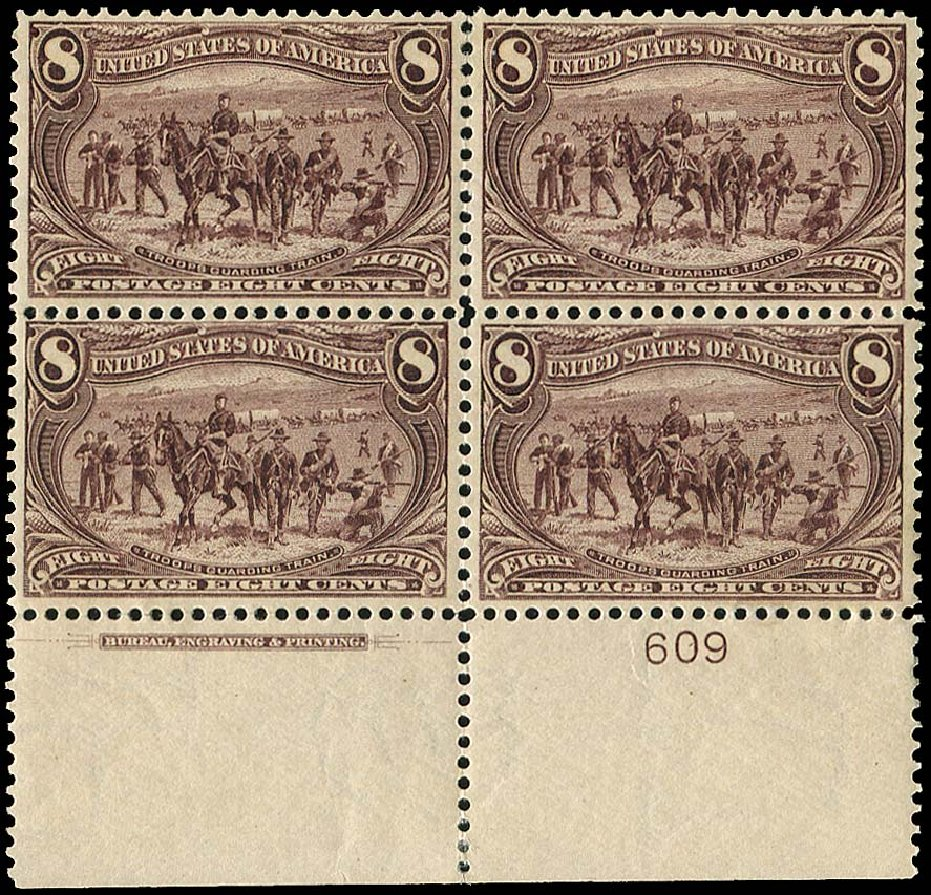 Value of US Stamps Scott # 289 - 1898 8c Trans Mississippi Exposition. Regency-Superior, Aug 2015, Sale 112, Lot 1293