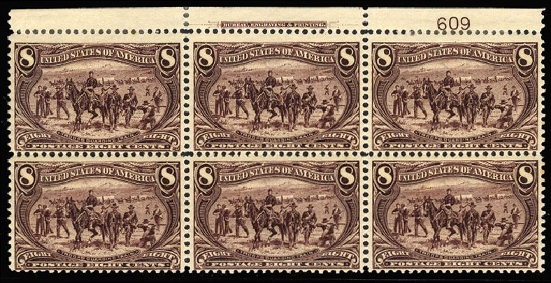 Prices of US Stamps Scott Cat. # 289 - 8c 1898 Trans Mississippi Exposition. Cherrystone Auctions, Jul 2015, Sale 201507, Lot 66