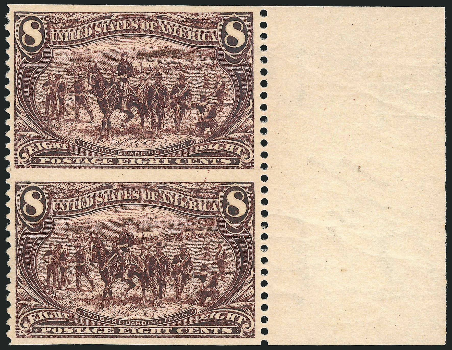 Value of US Stamps Scott # 289 - 1898 8c Trans Mississippi Exposition. Robert Siegel Auction Galleries, Apr 2015, Sale 1096, Lot 506