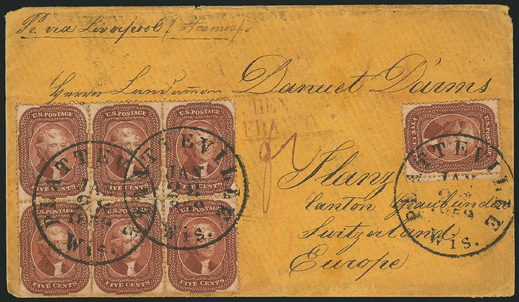Costs of US Stamp Scott Catalogue 28A: 5c 1858 Jefferson. Robert Siegel Auction Galleries, Nov 2014, Sale 1084, Lot 3134
