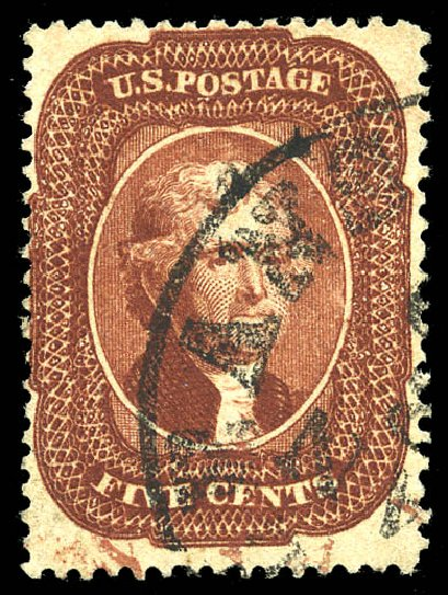 Costs of US Stamps Scott 28A: 5c 1858 Jefferson. Matthew Bennett International, May 2014, Sale 350, Lot 63
