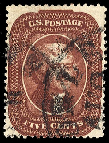 US Stamp Prices Scott Catalogue 28A - 5c 1858 Jefferson. Cherrystone Auctions, May 2013, Sale 201305, Lot 33