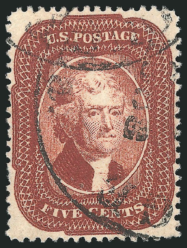 Costs of US Stamps Scott # 28A - 5c 1858 Jefferson. Robert Siegel Auction Galleries, Apr 2015, Sale 1096, Lot 63