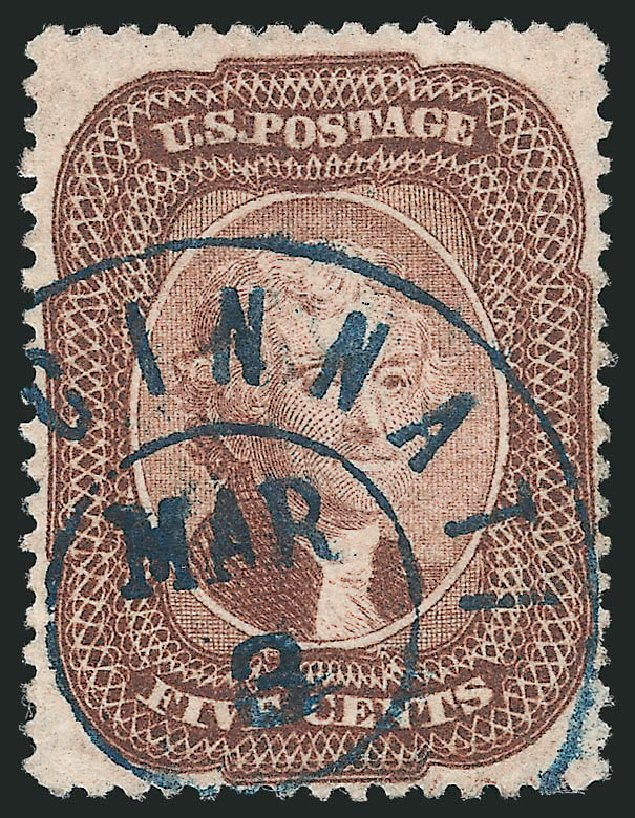 Costs of US Stamps Scott Catalog # 29: 1859 5c Jefferson. Robert Siegel Auction Galleries, Apr 2015, Sale 1096, Lot 67
