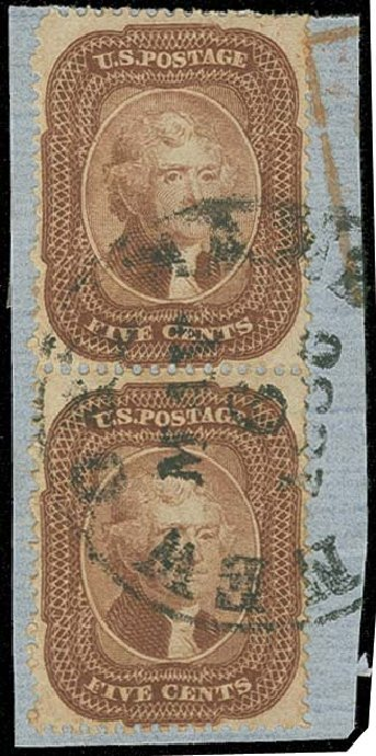 Value of US Stamps Scott Catalogue 29 - 5c 1859 Jefferson. H.R. Harmer, Oct 2014, Sale 3006, Lot 1065