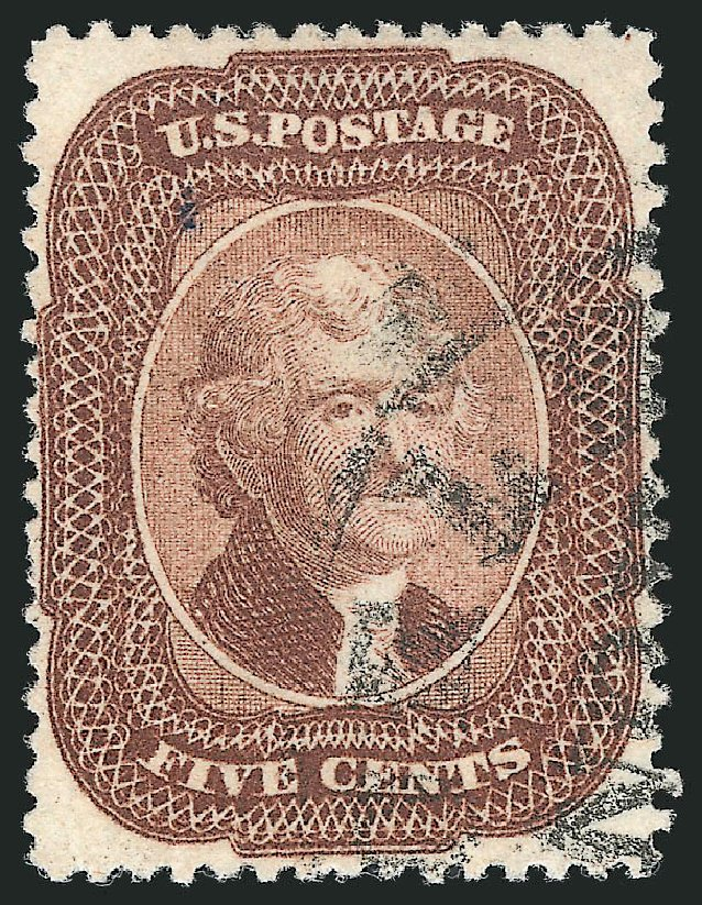 US Stamp Price Scott Catalog 29: 5c 1859 Jefferson. Robert Siegel Auction Galleries, Apr 2015, Sale 1096, Lot 66