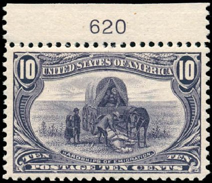 US Stamps Price Scott Catalogue # 290: 1898 10c Trans Mississippi Exposition. Schuyler J. Rumsey Philatelic Auctions, Apr 2015, Sale 60, Lot 2770