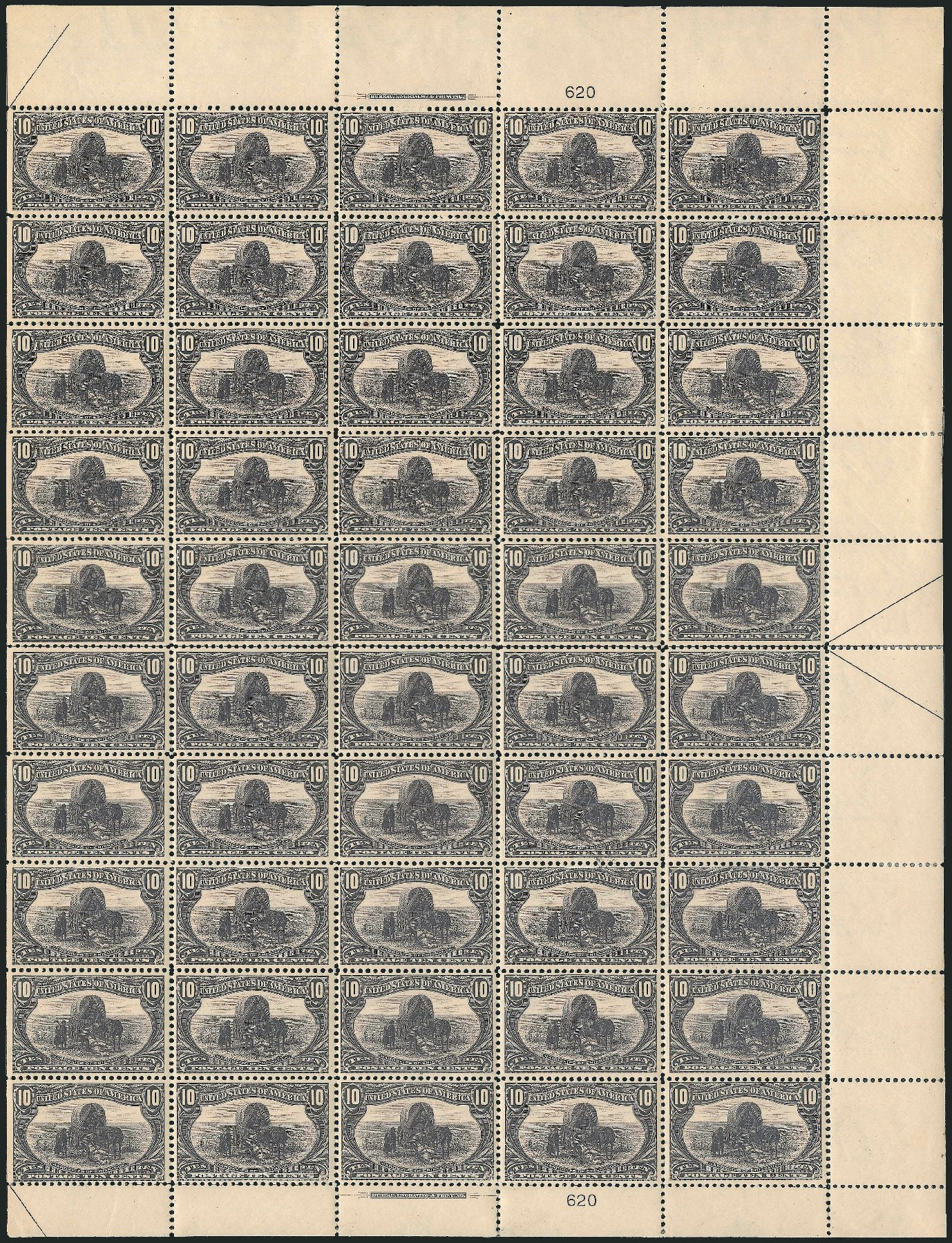 Cost of US Stamp Scott Catalogue 290 - 10c 1898 Trans Mississippi Exposition. Robert Siegel Auction Galleries, Feb 2015, Sale 1092, Lot 1241