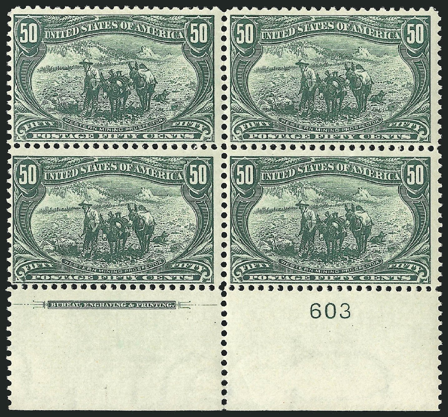 US Stamp Values Scott Catalog # 291: 50c 1898 Trans Mississippi Exposition. Robert Siegel Auction Galleries, Jun 2015, Sale 1106, Lot 3140