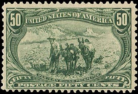 US Stamp Prices Scott Cat. 291: 1898 50c Trans Mississippi Exposition. Regency-Superior, Aug 2015, Sale 112, Lot 614