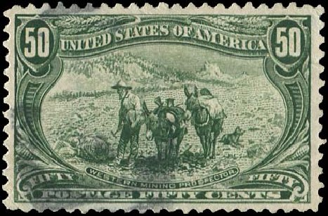 US Stamp Price Scott Cat. 291: 1898 50c Trans Mississippi Exposition. Regency-Superior, Aug 2015, Sale 112, Lot 615