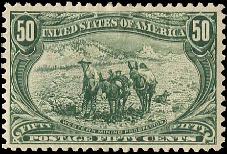 US Stamps Values Scott # 291: 1898 50c Trans Mississippi Exposition. Regency-Superior, Aug 2015, Sale 112, Lot 613