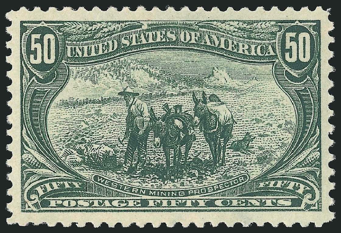 Costs of US Stamps Scott Catalogue 291: 50c 1898 Trans Mississippi Exposition. Robert Siegel Auction Galleries, Jun 2015, Sale 1100, Lot 63