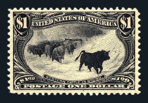 Price of US Stamp Scott Catalog #292 - 1898 US$1.00 Trans Mississippi Exposition. Harmer-Schau Auction Galleries, Aug 2015, Sale 106, Lot 1707