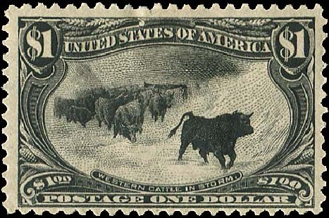US Stamp Value Scott Catalogue 292: US$1.00 1898 Trans Mississippi Exposition. Regency-Superior, Aug 2015, Sale 112, Lot 618