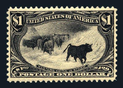US Stamp Price Scott # 292 - US$1.00 1898 Trans Mississippi Exposition. Harmer-Schau Auction Galleries, Aug 2015, Sale 106, Lot 1709