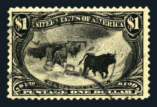 Cost of US Stamp Scott Cat. # 292 - US$1.00 1898 Trans Mississippi Exposition. Harmer-Schau Auction Galleries, Aug 2015, Sale 106, Lot 1714