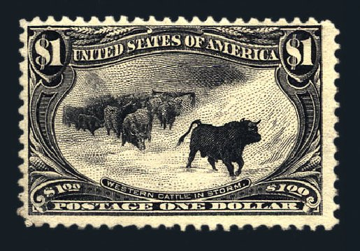 Value of US Stamps Scott Catalogue #292: 1898 US$1.00 Trans Mississippi Exposition. Harmer-Schau Auction Galleries, Aug 2015, Sale 106, Lot 1712