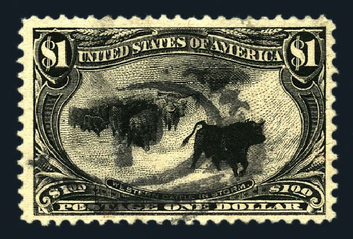 US Stamps Price Scott Catalogue #292 - 1898 US$1.00 Trans Mississippi Exposition. Harmer-Schau Auction Galleries, Aug 2015, Sale 106, Lot 1713
